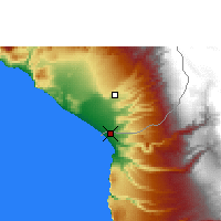 Nearby Forecast Locations - Arica - Mapa