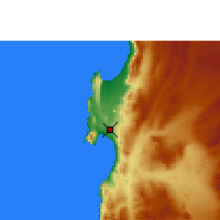 Nearby Forecast Locations - Antofagasta - Mapa