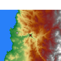 Nearby Forecast Locations - Copiapó - Mapa