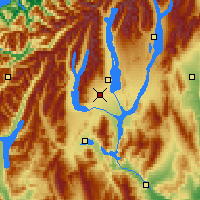 Nearby Forecast Locations - Twizel - Mapa