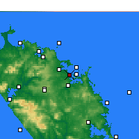 Nearby Forecast Locations - Paihia - Mapa