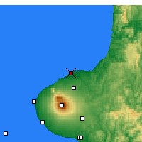 Nearby Forecast Locations - New Plymouth - Mapa