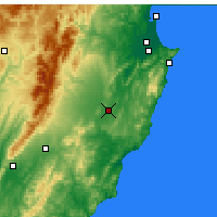 Nearby Forecast Locations - Waipukurau - Mapa