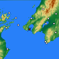 Nearby Forecast Locations - Wellington - Mapa