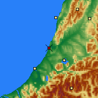 Nearby Forecast Locations - Greymouth - Mapa