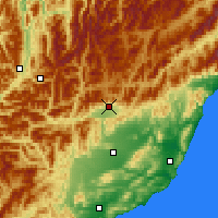 Nearby Forecast Locations - Hanmer Springs - Mapa