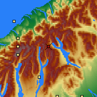Nearby Forecast Locations - Fox Glacier - Mapa
