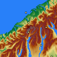 Nearby Forecast Locations - Westland NP - Mapa