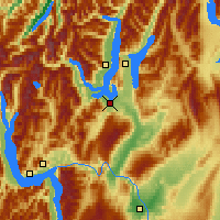 Nearby Forecast Locations - Wanaka - Mapa