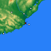 Nearby Forecast Locations - Nugget Point Aws - Mapa