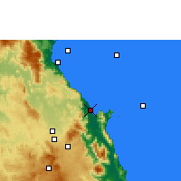 Nearby Forecast Locations - Cairns - Mapa