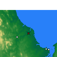 Nearby Forecast Locations - Bundaberg - Mapa