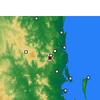 Nearby Forecast Locations - Maleny - Mapa