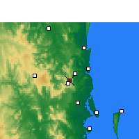 Nearby Forecast Locations - Baroon Pocket Dam - Mapa