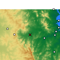 Nearby Forecast Locations - Gatton - Mapa