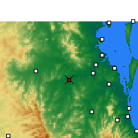 Nearby Forecast Locations - Amberley - Mapa