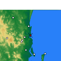 Nearby Forecast Locations - Sunshine Coast (Letiště) - Mapa