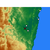 Nearby Forecast Locations - Grafton - Mapa