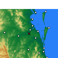 Nearby Forecast Locations - Archerfield - Mapa