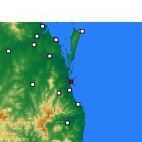 Nearby Forecast Locations - Gold Coast Seaway - Mapa