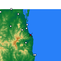 Nearby Forecast Locations - Coolangatta - Mapa