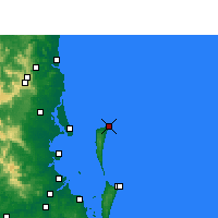Nearby Forecast Locations - Cape Moreton - Mapa