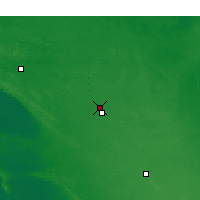 Nearby Forecast Locations - Lameroo - Mapa