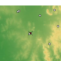 Nearby Forecast Locations - Temora - Mapa