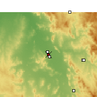 Nearby Forecast Locations - Gunnedah - Mapa