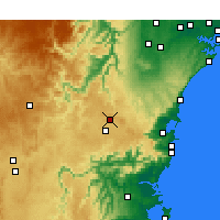 Nearby Forecast Locations - Bowral - Mapa