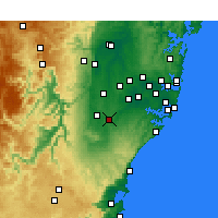 Nearby Forecast Locations - Campbelltown - Mapa