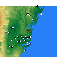 Nearby Forecast Locations - Terrey Hills - Mapa