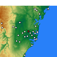 Nearby Forecast Locations - Parramatta - Mapa