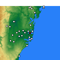 Nearby Forecast Locations - Sydney - Mapa