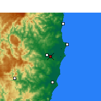 Nearby Forecast Locations - Kempsey - Mapa