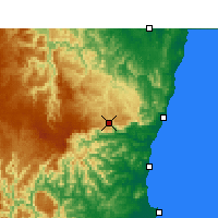Nearby Forecast Locations - Dorrigo - Mapa