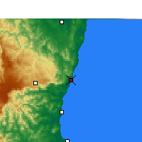 Nearby Forecast Locations - Coffs Harbour - Mapa