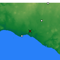 Nearby Forecast Locations - Warrnambool - Mapa