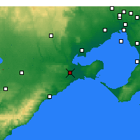 Nearby Forecast Locations - Geelong - Mapa
