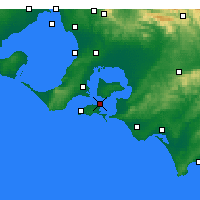 Nearby Forecast Locations - Rhyll - Mapa