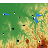 Nearby Forecast Locations - Beechworth - Mapa