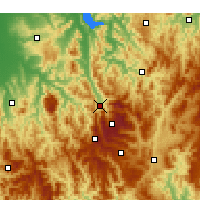 Nearby Forecast Locations - Mount Beauty - Mapa