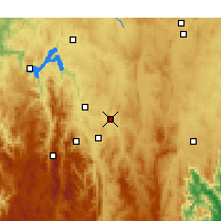 Nearby Forecast Locations - Canberra - Mapa