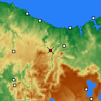 Nearby Forecast Locations - Erriba - Mapa
