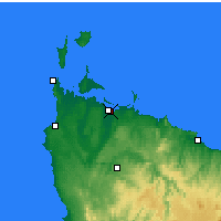 Nearby Forecast Locations - Smithton - Mapa