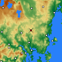 Nearby Forecast Locations - Tunnak - Mapa