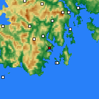 Nearby Forecast Locations - Dover - Mapa