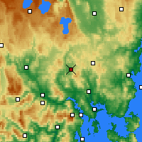 Nearby Forecast Locations - Melton Mowbray - Mapa