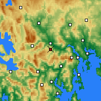 Nearby Forecast Locations - Moogara - Mapa
