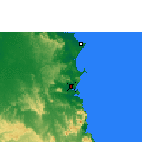 Nearby Forecast Locations - Cooktown - Mapa